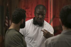 Victor O'Frank on set